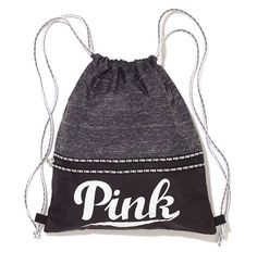 Victorias Secret PINK Drawstring Tote Bag Backpack 2015 Grey Marl - NEW! in Clothing, Shoes & Accessories, Women's Handbags & Bags, Travel & Shopping Bags Victoria Secret Outfits, Victoria Secret Rosa, Mochila Victoria Secret, Backpack Bags, Drawstring Backpack, Cute Backpacks, School Backpacks, Pink Nation, Pink Brand