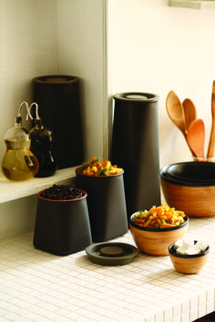 JIA Inc. Abundance Airtight Canisters, terracotta with silicone lids Storage Canisters, Kitchen Canisters, Kitchenware, Tableware, Kitchen Appliances, A Touch Of Zen, Design Online Shop, Chinese Philosophy, Shops