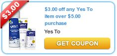$3.00 off any Yes To item over $5.00 purchase