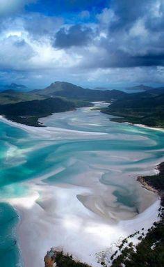 Whitsunday Island, Queensland, Australia. (via Around The World)