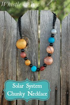 DIY Solar System Necklace