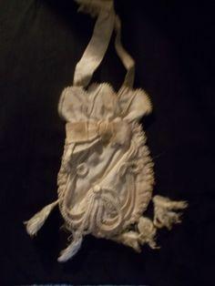 exceptionally rare georgian bridal purse! all original