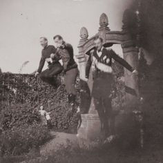 Tsar Nicholas II Clowning Around with Friends