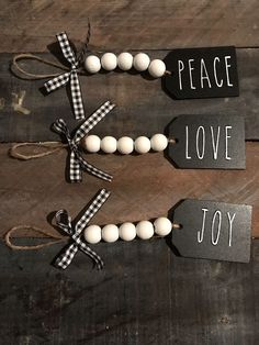 Are you searching for inspiration for farmhouse christmas decor? Check this out for cool farmhouse christmas decor inspiration. This unique farmhouse christmas decor ideas appears to be entirely brilliant. Diy Christmas Decorations Easy, Diy Christmas Ornaments, Diy Christmas Gifts, Holiday Crafts, Christmas Holidays, Stocking Ornaments, Personalized Christmas Ornaments, Christmas Bead Garland, Christmas Ideas