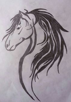 sketch of horse head with flying mane on white background vector illustration for your animal. Black Bedroom Furniture Sets. Home Design Ideas