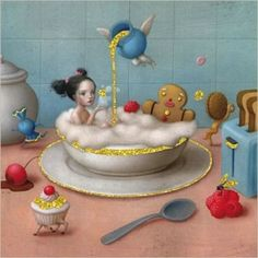 La Marelle `Kaart Nicoletta Ceccoli Eat Me Drink Me`