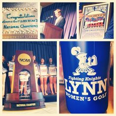 Congrats to our women's golf team on their National Championship! #womensgolf #fightingknights #wearethechampions #lynn4life