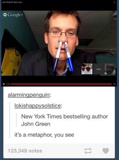 John Green is the best My Tumblr, Tumblr Funny, Hank Green, John Green Funny, John Green Books, Look Man, Tfios, The Fault In Our Stars, Book Fandoms
