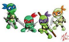 Baby Mutant Ninja Turtles by KuramaLoverBunny on DeviantArt |Baby Ninja Turtles Drawings