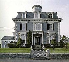 Horatio Moody House, Built in 1866 - Kennebunk, Maine #victorian, #architecture