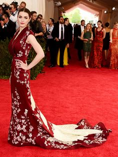Bee Shaffer in a stunning kimono-inspired gown at the 2015 Met Gala