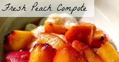 Lavende and Lemonade: French Peach Compote