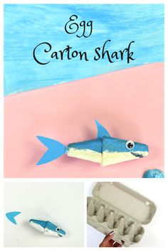 Recycle old egg cartons to make some adorable shark crafts this summer. Great craft idea to teach your kids about the concept of recycling things in a fun way and perfect boredom buster craft for toddlers, preschoolers and kindergarteners