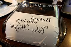 etched glass baking dish tutorial