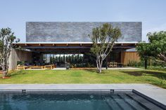 NS Residence | Residential Architect | Blatman Cohen Architecture Design, Emek Hefer, Israel, Single Family, Outbuilding, New Construction, Outdoor, Living Room, Kitchen, Modern, Wood, indoor/outdoor, Outdoor Spaces, swimming pool, Outdoor Rooms