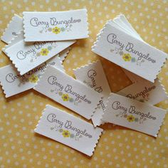 Tutorial for making your own iron-on fabric labels. -  T. in the Burg