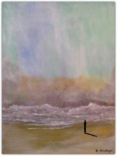 Acryl/Leinwand 30 cm x 40 cm x 1,5 cm Preis 370,- Euro  Einsam