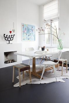 dark floors, white walls | the perfect place / colour