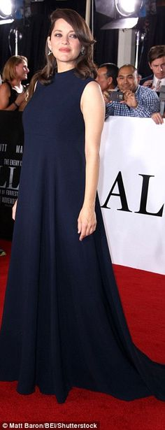 Keep it simple in a navy gown like Marion Cotillard this season  Click 'visit' to buy it now   #DailyMail