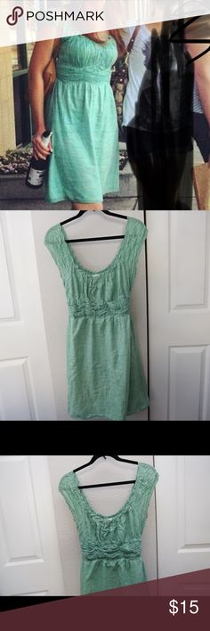 Max Studio Seafoam Green dress Very comfortable and in decent condition. I'm 5ft 6in and you can see length in pic. Max Studio Dresses Midi