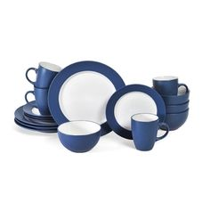 Shop for Pfaltzgraff Everyday Blue/ White 16-piece Dinnerware Set. Get free delivery at Overstock.com - Your Online Kitchen