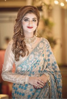 Shadi Dresses, Pakistani Formal Dresses, Wedding Dresses For Girls, Party Wear Dresses, Saree Dress, Sari, Designer Sarees Wedding, Designer Dresses, Saree Look