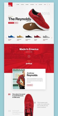Landing Page UI design concept for eShoes shop website on Behance. If you like UX, design, or design thinking, check out theuxblog.com podcast https://itunes.apple.com/us/podcast/ux-blog-user-experience-design/id1127946001?mt=2