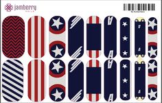 Calling all Captain America fans!! Contact me if your interested in purchasing or ask me how you can create your own in my Jamberry Nail Art Studio -