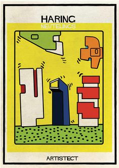 federico babina intersects art with stylistically similar architecture Neutelings/Haring
