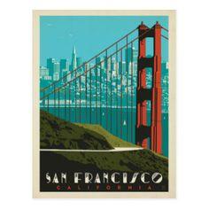 San Francisco | Golden Gate Bridge Skyline Postcard