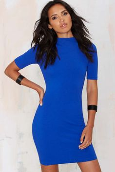 Nasty Gal Deana Bodycon Dress - Royal Blue | Shop Clothes at Nasty Gal!