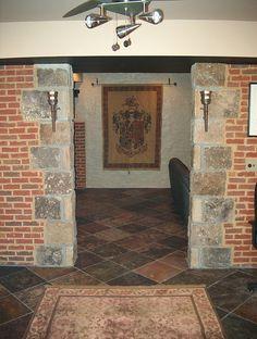 stone flooring basement renovation basement renovation #basement #renovation