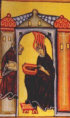 Hildegarde of Bingen: 11th-century badass lady, writer, composer, philosopher, Christian mystic, Benedictine abbess, visionary, and polymath.