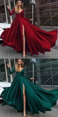 Long Sleeved Formal Wear for Women Outfits 2018 Sexy Slit Evening Dress Burgundy/red - masked ball dresses burgandy ball gown pretty ball gowns gorgeous ball gowns beautiful ball gowns mascarade ball dresses masquerade ball dresses Source by eburiin - Long Sleeve Evening Gowns, Prom Dresses Long With Sleeves, Long Prom Gowns, Ball Gowns Prom, Evening Dresses, Long Sleeve Formal Gowns, Red Long Sleeve Dress, Pageant Dresses, Quinceanera Dresses