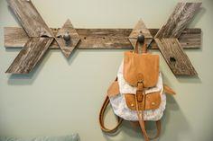 Handmade Coat Rack in Blog Cabin's Mudroom