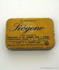 Antigua lata de medicamento SIOGENO. Medicina, Farmacia.