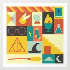 Harry Potter Art Print by Ariel Wilson - $18.00