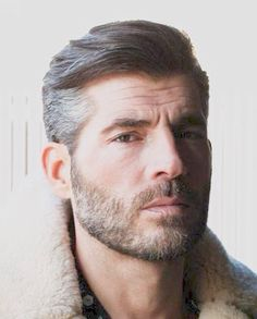 Gray Haired and Bearded Man.