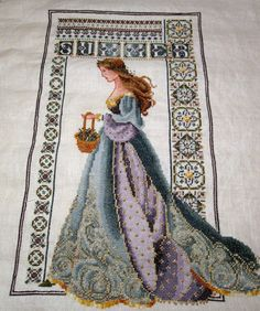 """Celtic Summer"" Cross Stitch Completed pre 2000 Pattern by Lavender and Lace. TV Needlework"