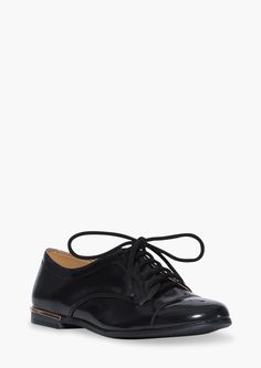 Lace Up Oxfords in Black   Necessary Clothing