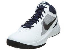 aa6024e1fa18 Nike The Overplay VIII Mens 637382-103 White Navy Blue Basketball Shoes  Size 9 Blue