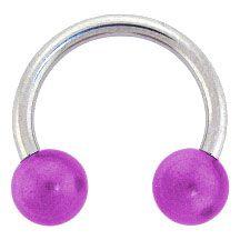 www.bodyjewelry.com #horseshoe #piercings #purple #bargain #sale #bodyjewelry