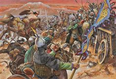 Batalla de Manzikert, cortesía de Christa Hook. Más en www.elgrancapitan.org/foro