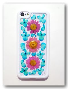 Handmade+iPhone+5C+case.+Resin+with+Dried+flower+by+Annysworkshop,+$20.00