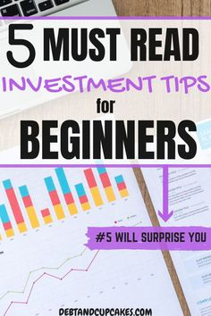 Investing can be overwhelming when you're a beginner.  These 5 investment tips for beginners will help build your financial knowledge and get you started on the path to success!  We cover everything from how to start investing your money to which stocks you should consider.  You don't want to miss these easy tips.  #investing #investingtipsforbeginners #investingtips #investingmoney #beginnerinvestingtips #beginnerinvesting