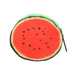 YueLian Women Girl's Colorful 3D Fruit Shape Mini Zipper Coin Purse (watermelon) - Brought to you by Avarsha.com
