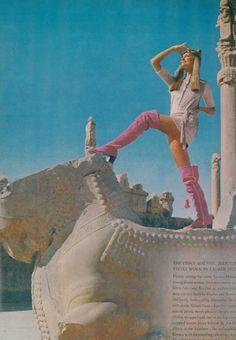 Beautiful IRAN before The Dark Revolution 1979 . Vogue - Iran Dec 1969