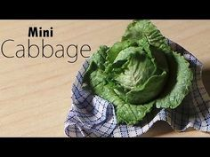 Miniature Food; Cabbage/Lettuce Polymer Clay Tutorial - YouTube