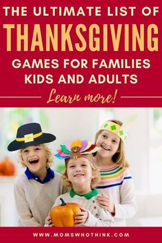 These Thanksgiving Games are a great way to connect with your family this holiday season. Check out our ultimate list of Thanksgiving games for families, kids & adults! Thanksgiving Family Games, Thanksgiving Crafts For Kids, Thanksgiving Decorations, Family Feud, Family Kids, Friends Family, Turkey Art, Family Activities, Coloring Pages For Kids