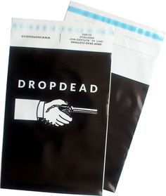 Drop Dead Clothing printed mailing bag